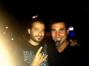 Alan Azar with Serj Tankian