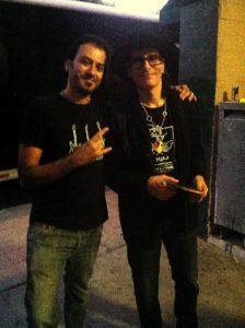 Alan Azar with Steve Vai
