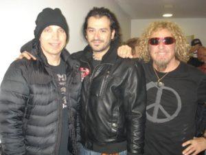 Alan Azar With Joe Satriani, Sammy Hagar....