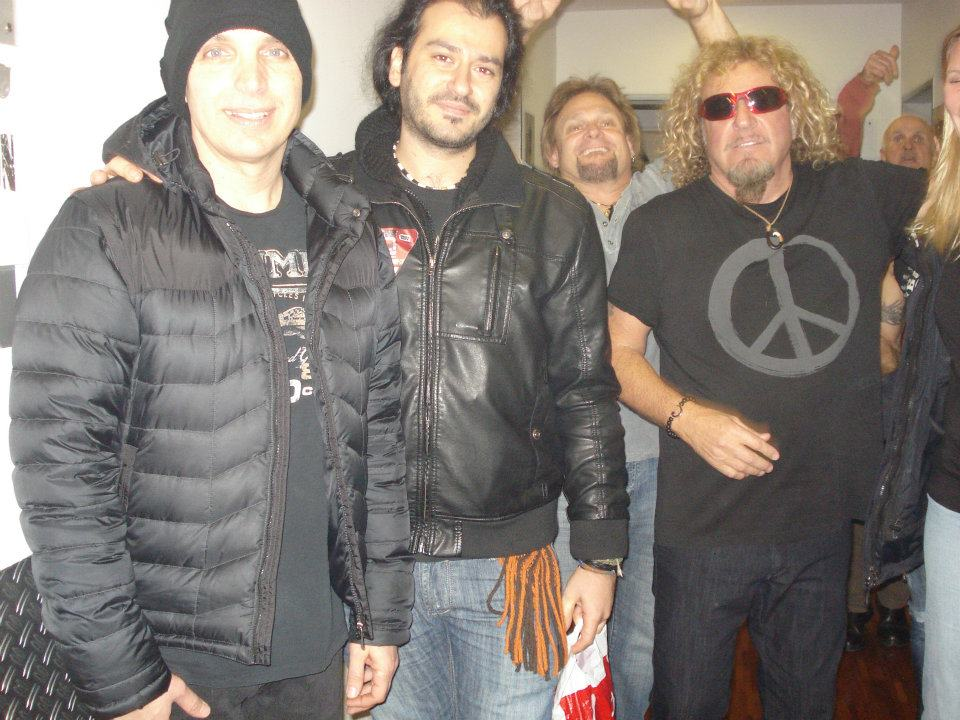 Alan Azar With Joe Satriani, Sammy Hagar.....