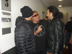 Alan Azar With Joe Satriani and Sammy Hagar.