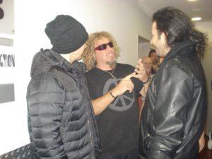 Alan Azar With Joe Satriani and Sammy Hagar..
