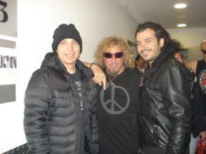 Alan Azar With Joe Satriani and Sammy Hagar...