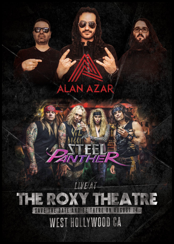 Alan Azar with Steel Panther